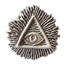 Masonic All-Seeing Eye of Providence Pewter Pin Badge