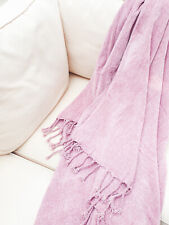 Luxury Pink Chenille Super Soft Throw Brand New 130 X 170cm