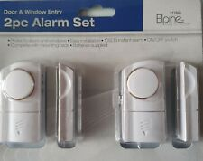 2 X EASY TO FIT WIRELESS DOOR / WINDOW / HOME / SHED / GARAGE ETC ALARMS