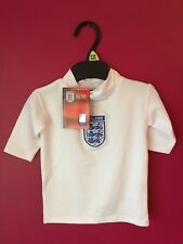 Baby Age 12 -18 Months Official England 40+ UV Shirt Sun Safety Rash Vest White