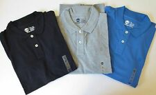 Timberland Men's Millers River Pique Short Sleeve Polo Shirt Gray Blue Black