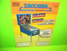 Zaccaria Soccer Kings Pinball Champ Original Flipper Game Pinball Machine Flyer