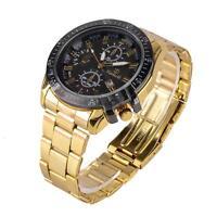 2017 Black Dial Stainless Steel Wrist Watches Men's Luxury Date Analog Quartz LN