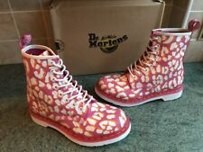 Bnib! Dr. Martens 1460 Leopard Pink/White/Orange Leather Boots Size UK5, EU38