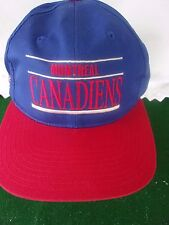 MONTREAL CANADIANS  Logo RED/BLUE HAT/CAP SNAP OSFM-CANADIANS HOCKEY V.CLEAN