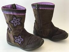 SURPRIZE by STRIDE RITE Toddler Girls Brown Suede Leather Boots Shoes Size 8