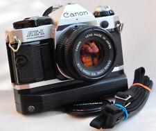 Canon AE-1 Program FD 50mm 1,8 + Neue Dichtungen + Power Winder