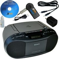 Sony Portable Boombox CD Radio Cassette Player +Wireless Bluetooth Receiver +Kit
