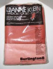 Vintage Burlington Anne Klein Two-Tone King Pillowcases Set of 2 New in Package