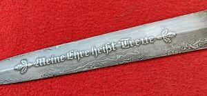 """SS German Dagger Damascus Steel With Motto """"Meine Ehre heißt Treue"""""""