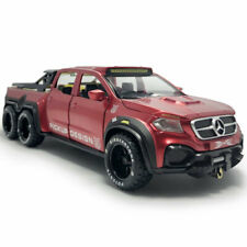 1:28 X-Class 6x6 Pickup Truck Model Car Diecast Vehicle Collection Red Gift Boys