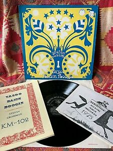 STEFAN GROSSMAN VINYL yazoo basin boogie LP w/ RARE BOOK + 1974 GUITAR Misprint