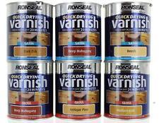RONSEAL INTERIOR QUICK DRYING VARNISH SATIN GLOSS MATT 10 SHADES 250-750ML