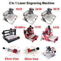 2 In 1 Laser Engraving Machine Caving Engraver / 5500MW Laser Head / Vise Clamp