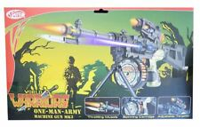 New Kids Realistic Super One Man Army Machine Gun Soldier Warrior Lights Sound