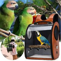 Pet Parrot Bird Carrier Travel Bag Space Capsule Transparent Cover Backpack Tote