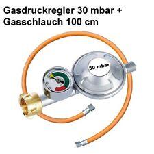 Druckminderer 30 mbar Druckregler Gas Regler  Camping Manometer Schlauch 100cm