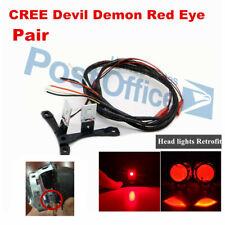 2 x Red LED Devil Eyes Light Ring Module for Car Projector Headlight Lens #