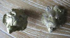 2x Bronze d'ameublement  tête de lion 45 x 40 mm.