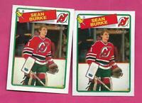 2 X 1988-89 OPC # 94 DEVILS SEAN BURKE  ROOKIE NRMT-MT  CARD (INV# D6397)