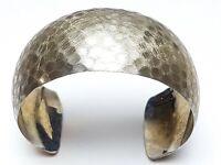 Breiter Design Silber Armreif Handarbeit 925 Silber Meisterpunze 3 cm breit /F44