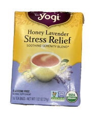 Yogi Honey Lavender Stress Relief Soothing Serenity Blend Caffeine Free Herbal