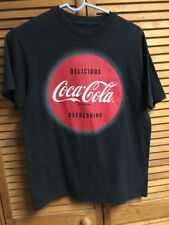 Coca Cola Coke T Shirt Enjoy Delicious Red Black Top Blouse Refreshing Womens