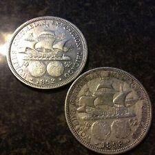 1892 &1893 COLUMBIAN EXPOSITION HALF DOLLARS L-734  BOTH FOR 1 MONEY