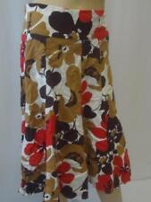 Gonne e minigonne da donna floreale casual in lino