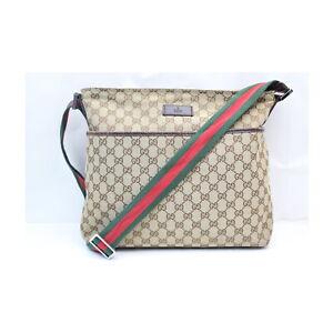 Gucci Shoulder Bag  Browns Canvas 1416570