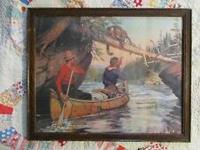 """Vintage Framed PHILIP R. GOODWIN Print """"Mutual Surprise"""" 16 x 20"""