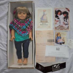 Vtg American Girl KIRSTEN DOLL 1994 Pleasant Company W/ Box Book