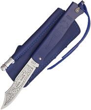 "Douk-Douk Folder Blue Knife 815GMCOL BLEU 4 3/8"" closed. 3 1/8"" carbon steel bla"
