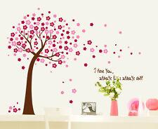Fiore Tree Bagno Camera da letto, camera da letto per bambini Adesivi Murali