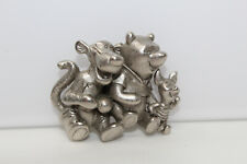 Collectible Silvertone Signed Disney Tigger Winnie the Pooh Piglet Pin Brooch N4