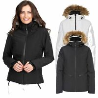 Trespass Womens Ski Jacket Waterproof Snow Coat with Faux Fur Hood