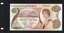 More details for very rare british commonwealth  st helena 1986 £20 note prefix  a/1 098431 unc