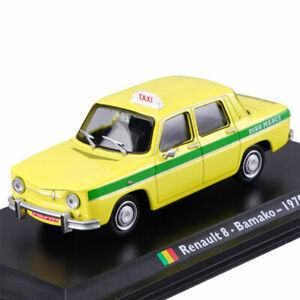 1:43 Renault 8 1970 Bamako Taxi Cab Model Car Diecast Gift Vehicle Collectible