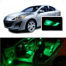 For Mazda 3 2014-2016 Green LED Interior Kit + Green License Light LED