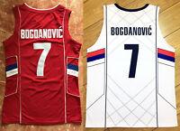 Vintage Bogdan Bogdanovic #7 Serbia Basketball Jerseys All Stitched Custom Names