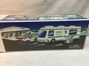 1998 Hess Recreation Van Truck with Dune Buggy and Motorcycle New In Box