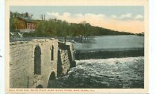 ROCK ISLAND, ILLINOIS-ROCK RIVER DAM-BELOW HAWK WATCH TOWER-W/B-(ILL-R)