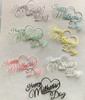 """Happy Mother's Day"" Die Cut Embellishments 6 pcs 2-1/4"" x 4"" choose color"