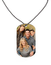 Personalised Metal Photo Dog Tag with Chain Dad Mother's Day Mum Grandad Gift