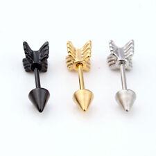 Surgical Stainless Steel Stud Earring Arrow Shape Ear Tragus Piercing Hot