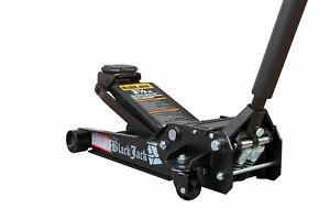 Black Jack 3.5 Ton Heavy Duty Low Profile Garage Jack Dual Piston Black - T83508