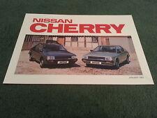 January 1983 Nissan CHERRY - UK 8 PAGE COLOUR BROCHURE