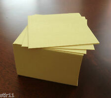 """Note Paper Refill Cube - Loose Sheets - 3 1/2"""" x 3 1/2"""" ( Yellow )"""
