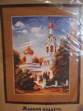 Russian church cross stitch kit