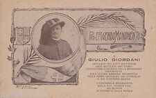 """# BOLOGNA- PRO ERIGENDO MONUM. A G. GIORDANI- ASSASSINATO DAI """"BOLSCEVICI"""" 1920"""
